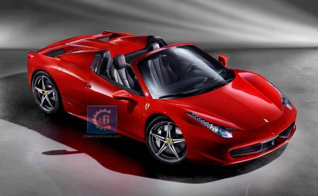 ferrari 458 Italia Spyder front