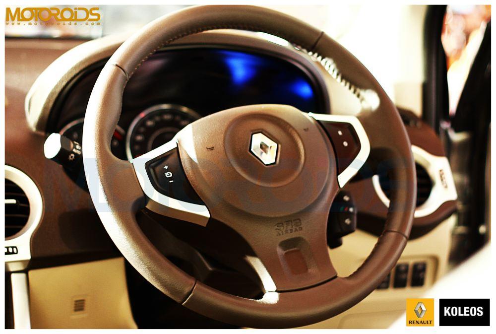 Koleos india steering