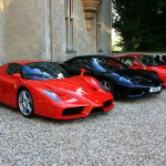 Fuel station of scarlet supercars!