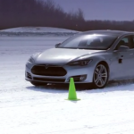 Telsa Model S spotted undergoing cold weather testing