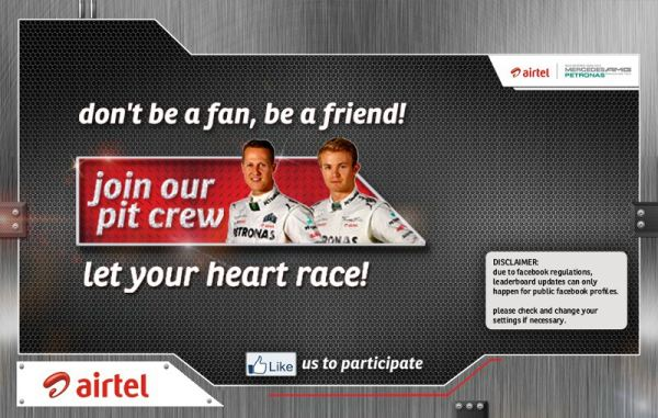 Airtel join our pit crew