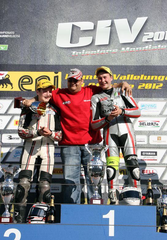Mahindra Vallelunga GP125 podium 2