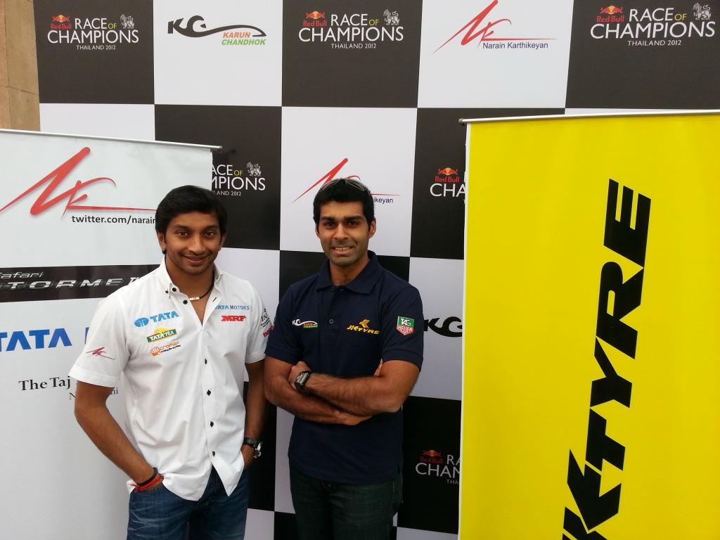 Karun-Narain-at-the-2012-ROC-Team-India-Announcement