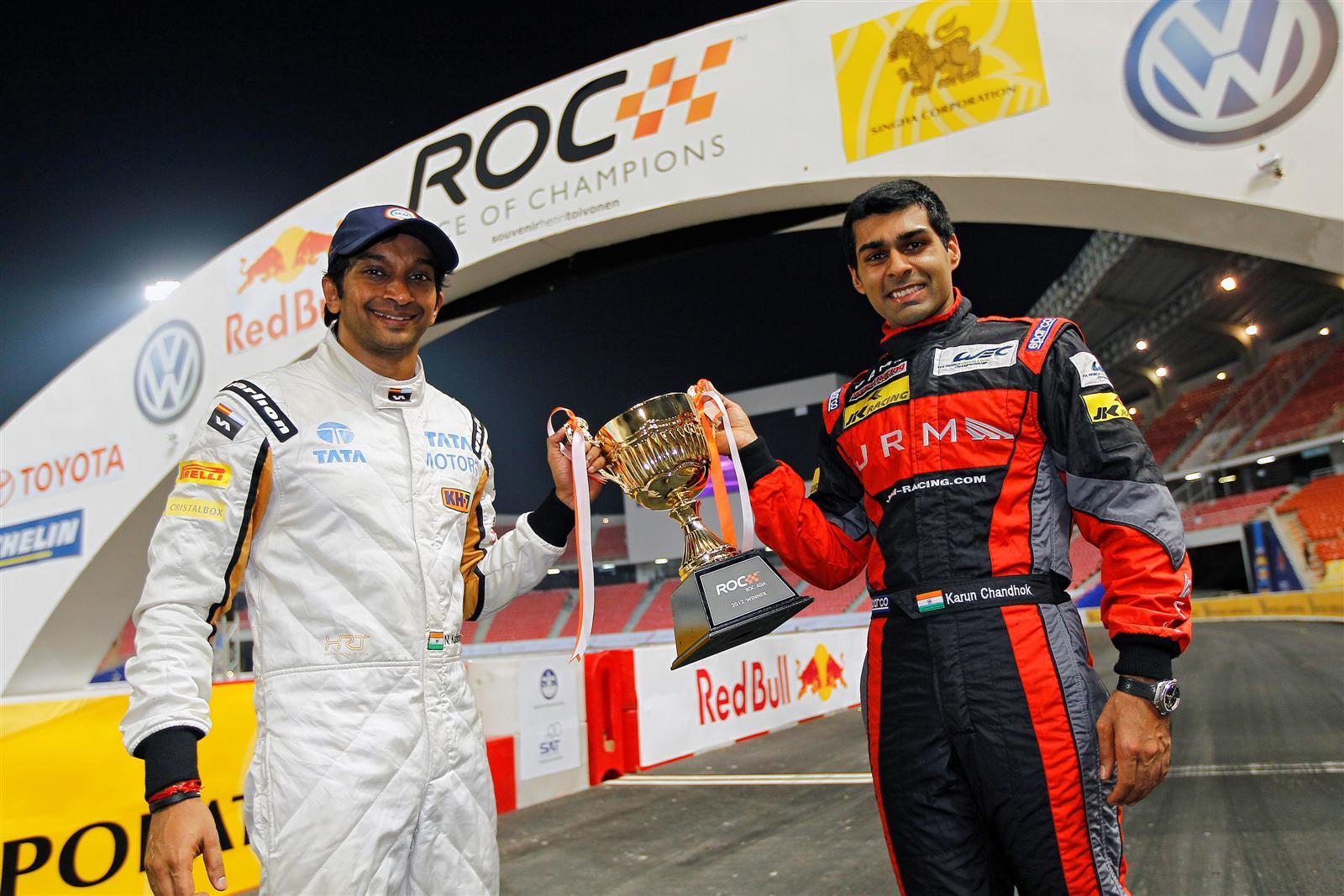 ROC-Asia-winners-Narain-Karthikeyan-Karun-Chandhok