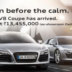 2013 Audi R8 Launched in India @ INR 1.34 crore