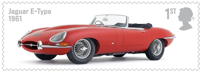 British Royal Mail Jaguar E-Type Postal Stamp