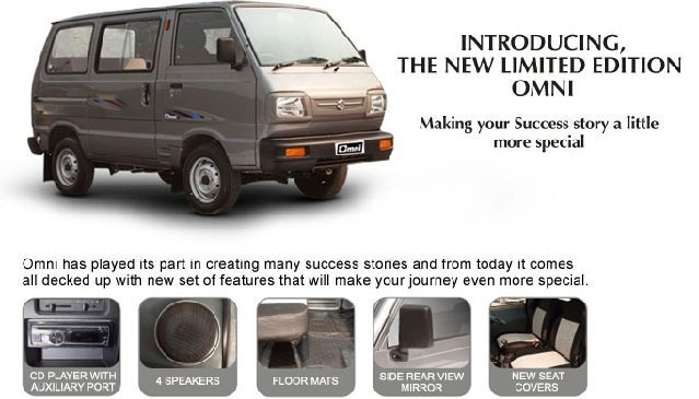 "Maruti Suzuki launches a ""Limited Edition' of Omni van"