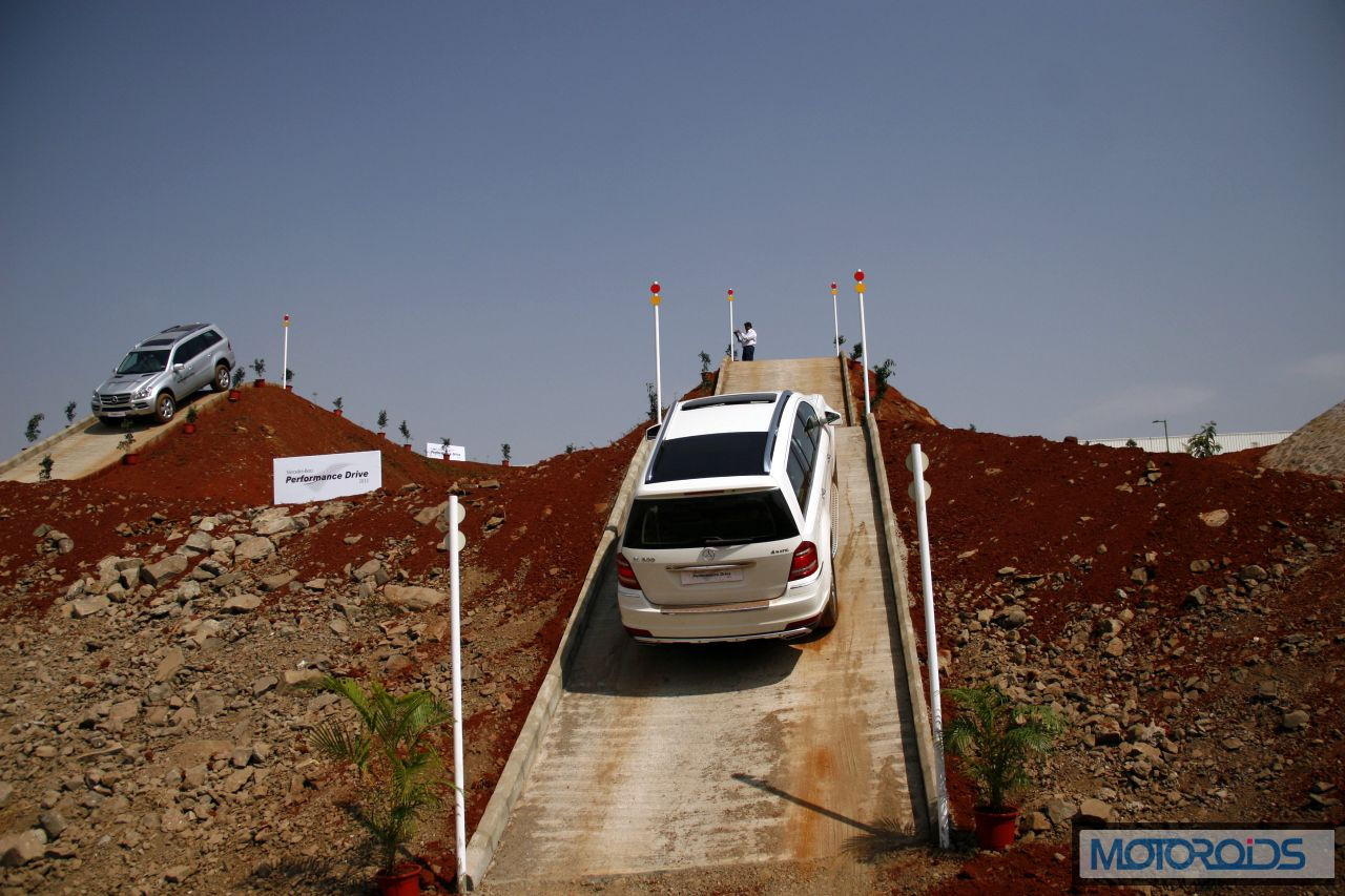 Mercedes SUV track test Chakan Pune India (13)