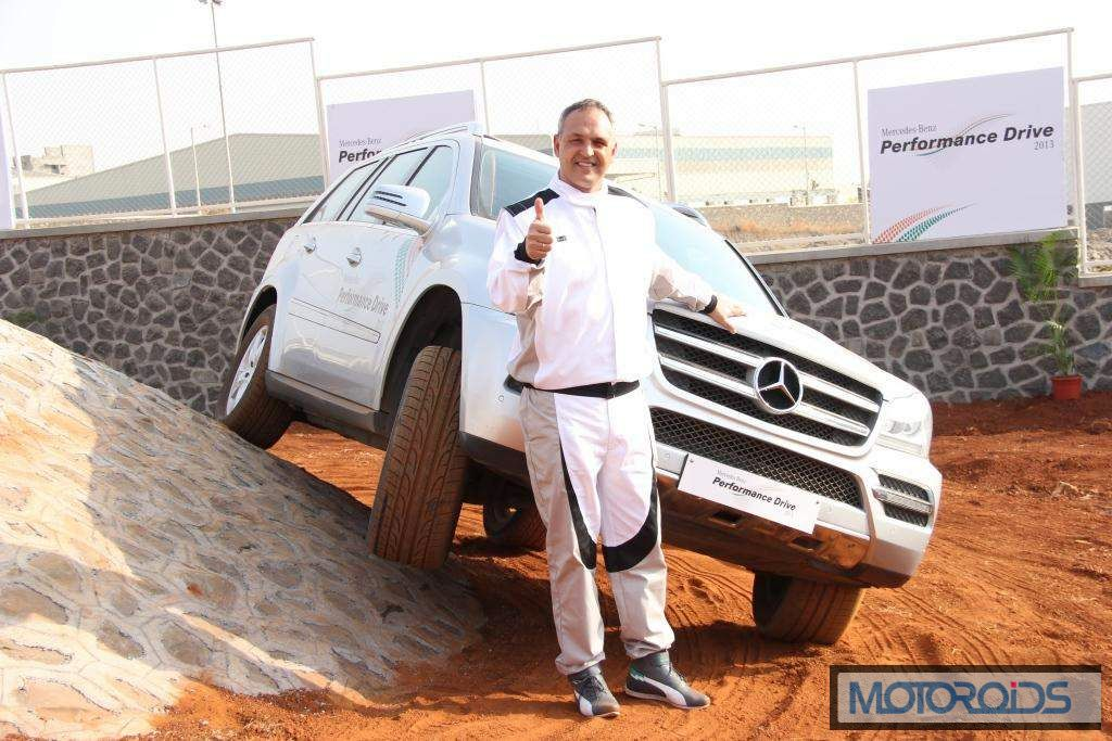 Mr. Eberhard Kern, MD&CEO,Mercedes-Benz India Inaugurating the first SUV Test Track in India at Chakan,Pune