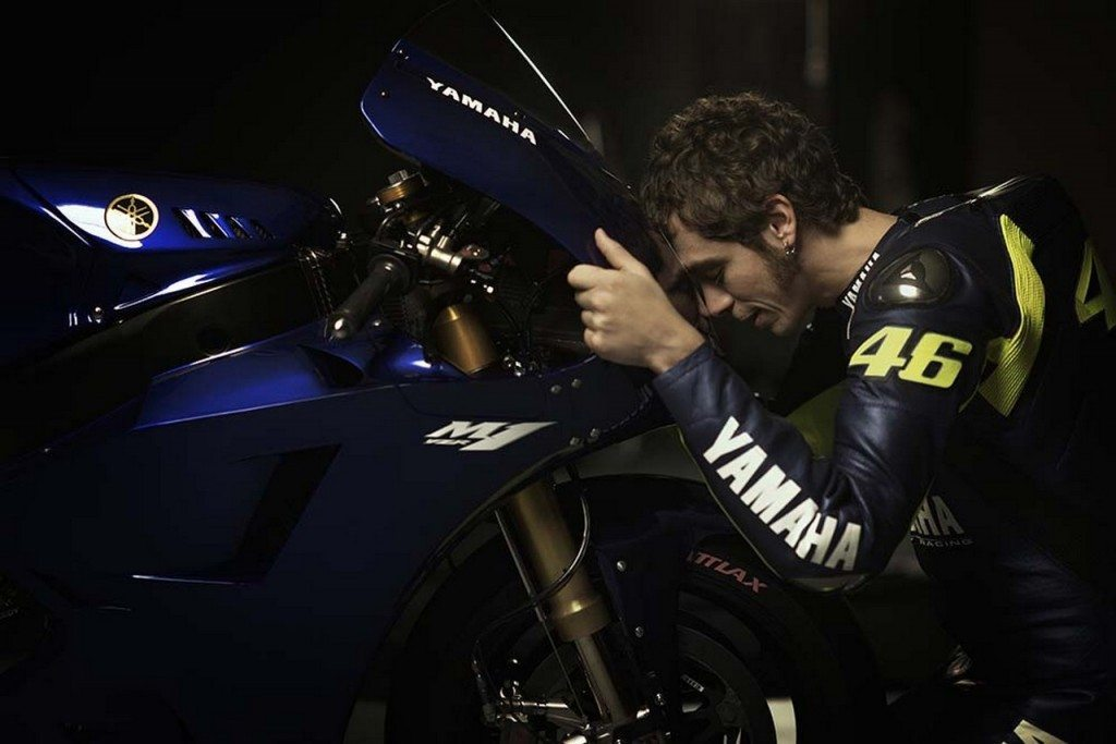 Rossi and 2013 Yamaha M1