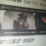 Tvs Phoenix 125 front page ad needs a spellcheck!