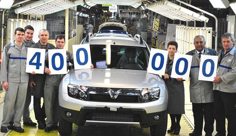 Dacia Duster 400000 produced unit