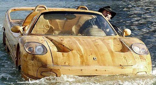 Ferrari F50 wooden boat by Livio-De-Marchi