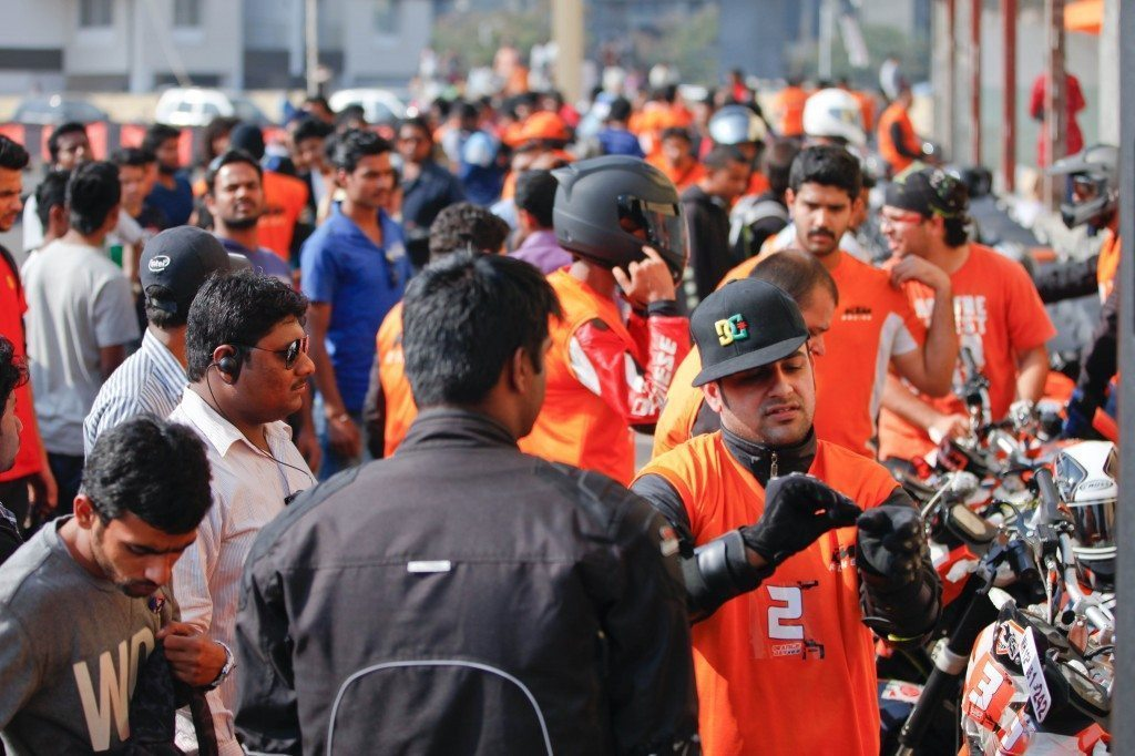 KTM Orange Day - Racing Crowd