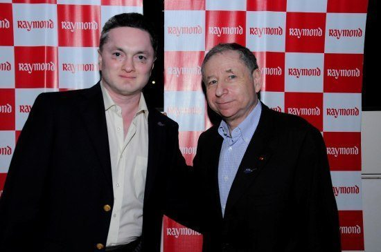 Mr Singhania and Mr Todt at The Raymond Shop2