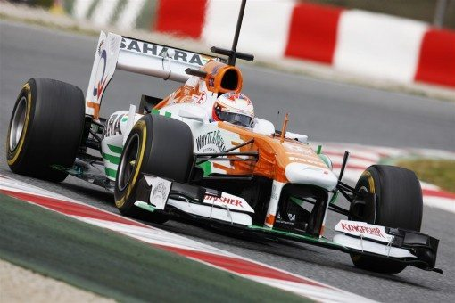 Sahara Force India Barcelona Test