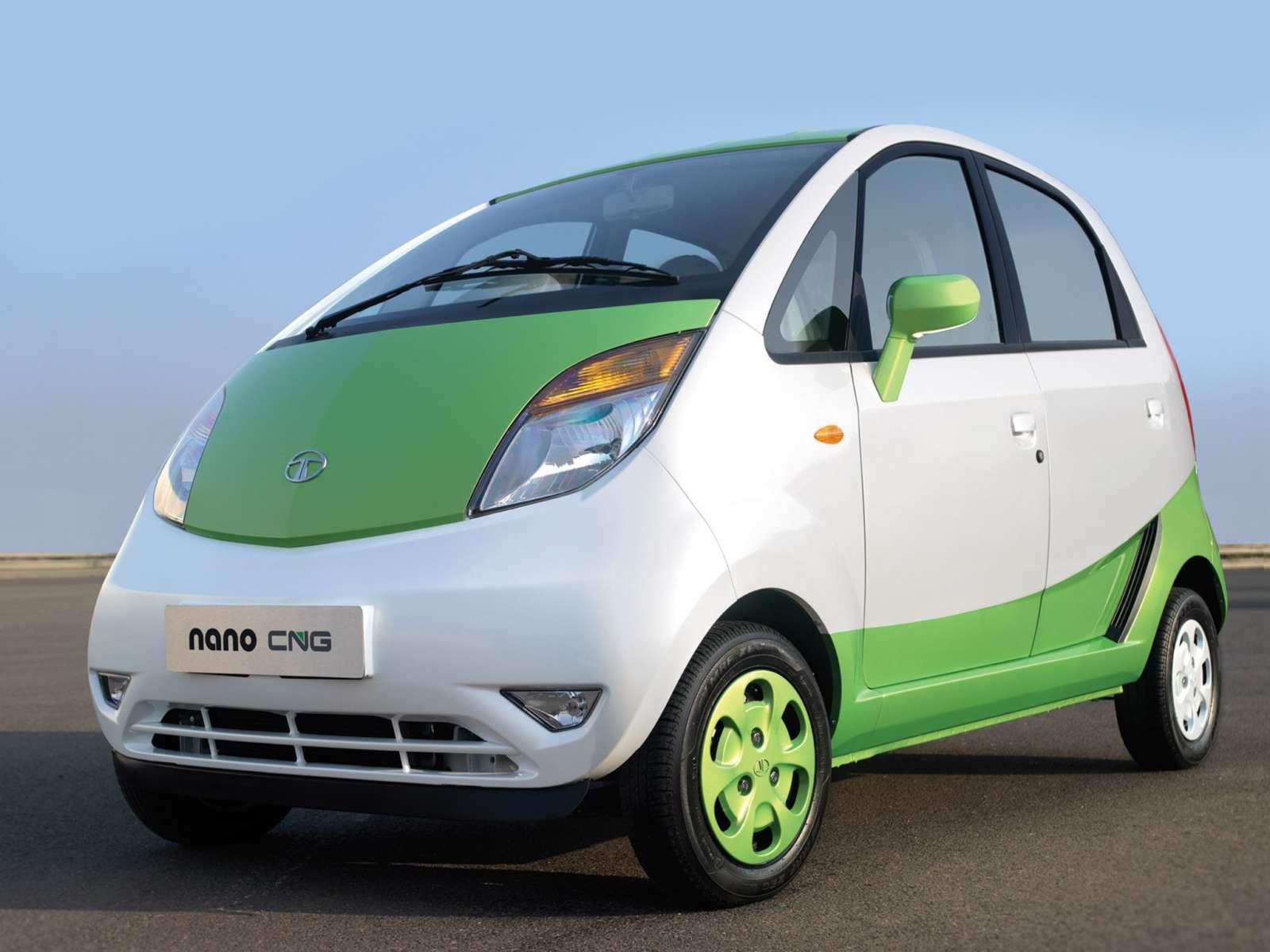 Tata Nano CNG front angle
