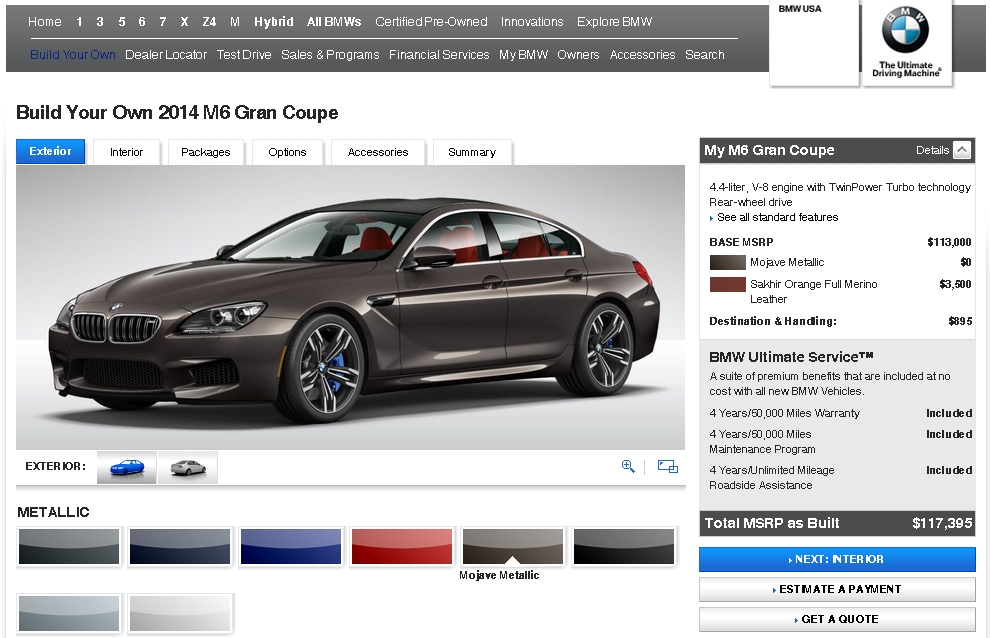 2014 BMW M6 Gran Coupe USA website