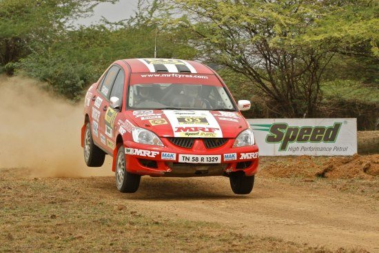 A shot of Amritajit Ghosh from the last South India Rally