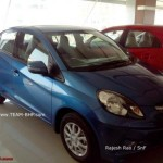 Honda Amaze sedan reaches dealerships in India. Launch Soon.