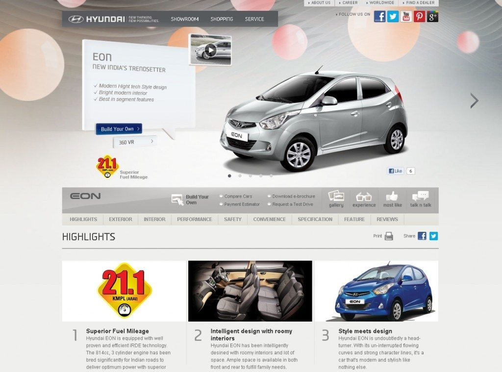 New Hyundai India Website
