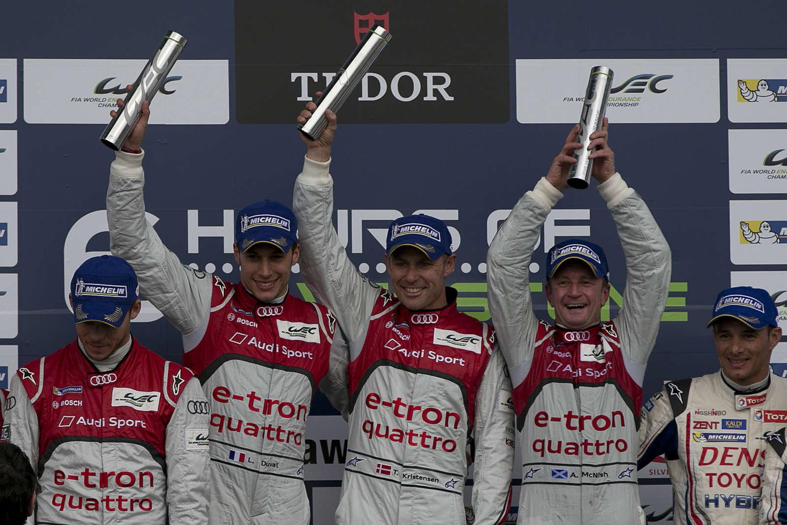 WEC-Doppelsieg fuer Audi in Silverstone