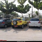 Ford EcoSport spotted parked next to Polo and Swift