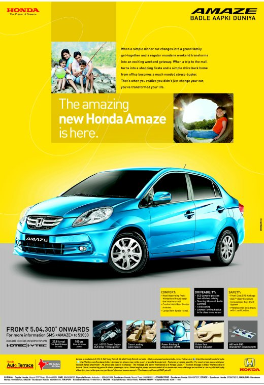 Honda-Amaze-bookings-advertisement