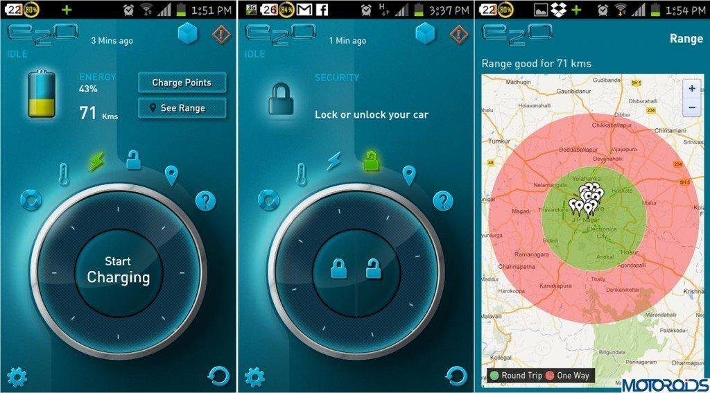 Mahindra Reva E20 Smartphone App