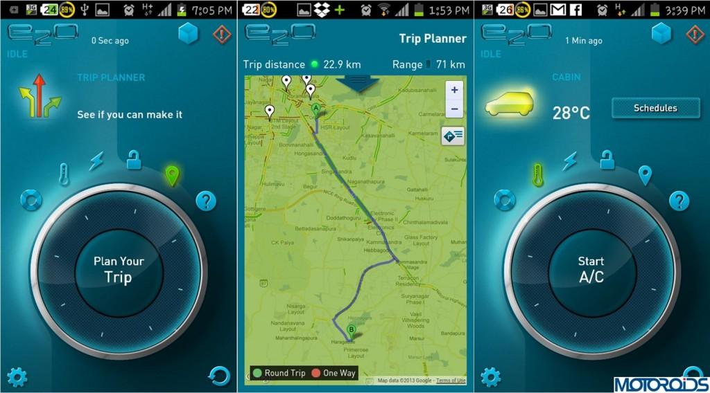 Mahindra Reva E20 Smartphone App-2