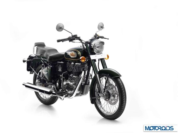 Royal Enfield Bullet 500 in Forest Green colour Front