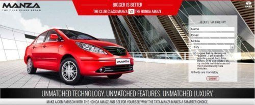Tata Manza's new web campaign is directly aimed at Honda Amaze