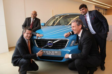 Tomas Ernberg, MD Volvo Cars & Thomas Andersson, Vice President Volvo Cars, Arvind Thakkar & Dhawal Thakkar Autobots Owner