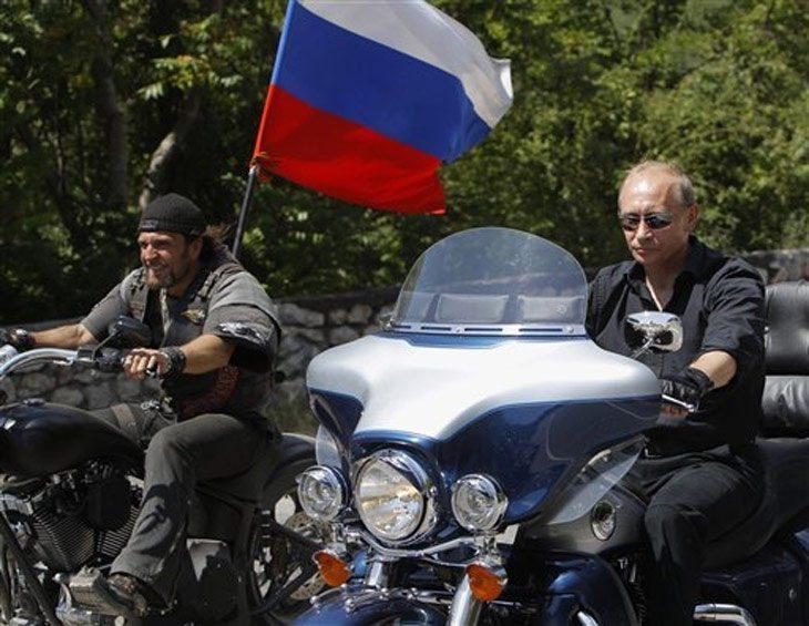 Vladimir Putin riding