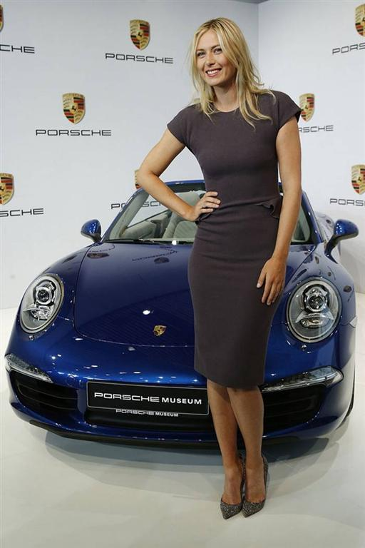 MARIA SHARAPOVA Unveiled as Porsche's New Brand Ambassador in Stuttgart