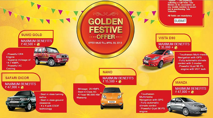 tata motors golden festive offer