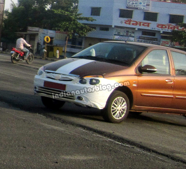 2013 Tata Indigo eCS facelift spotted in Pune. Launch Soon