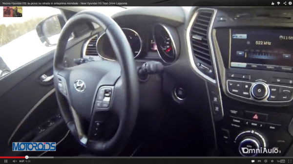 We get a glimpse of 2014 Hyundai i10's interiors in this video