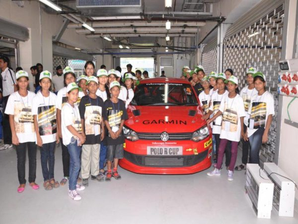 Children from the smile foundation visited the Buddh International Circuit and witnessed the pre-season testing of the Polo R Cup.