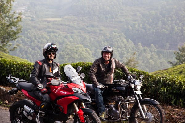 Charley Boorman and Sandeep Gajjar on their road trip in India filming Freedom Riders Asia