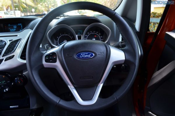 The steering is a tad on the lighter side and quite dead at the centre. No deal breaker but it doesn't offer the kind of feel that Ford cars are famous for