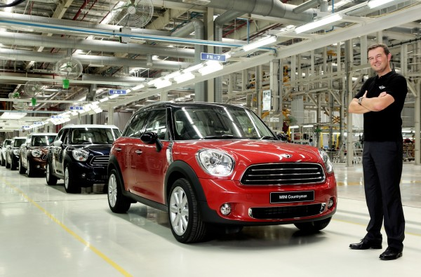 Mr. Robert Frittrang, MD, BMW Plant Chennai with the MINI Countryman