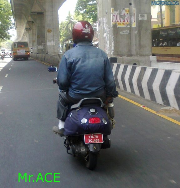 TVS 125cc male specific scooter 2