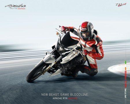 TVS Apache RTR180 racing
