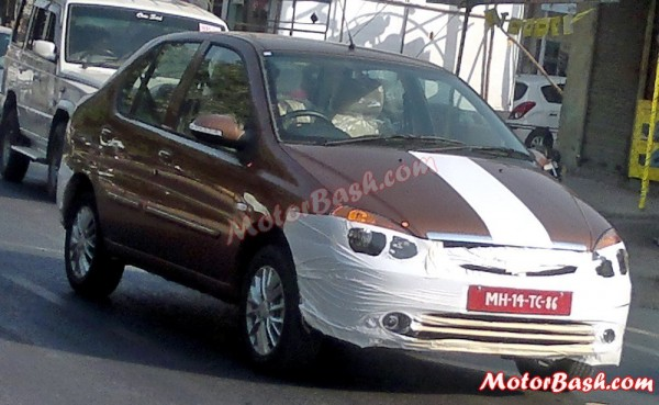 New 2013 Tata Indigo eCS facelift spotted again