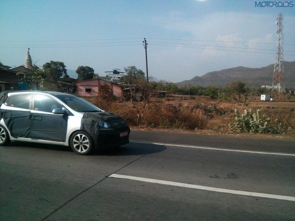 2014 Hyundai i10 test mule with MH-12 plats spotted again