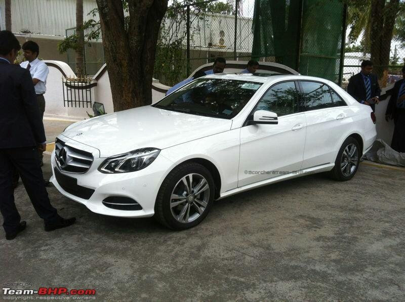 2014 mercedes e class facelift spotted in bangalore june. Black Bedroom Furniture Sets. Home Design Ideas