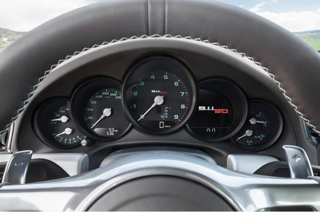 50th Annivesary Porsche 911 dashboard