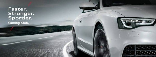 Audi RS5 headed our way. Teased on Facebook