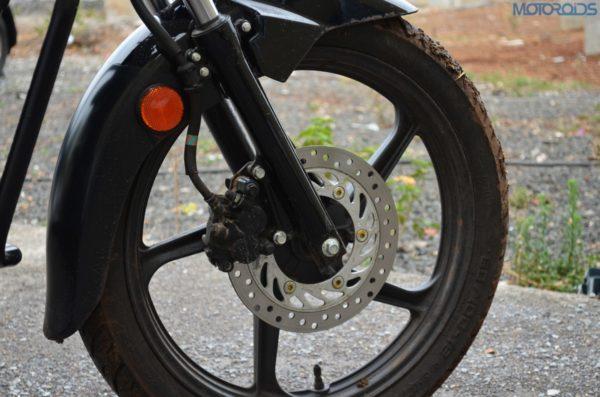 Highest variant gets elec start, alloys and front disc brake